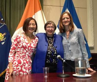Vivia Chen, Sheila Birnbaum and Nina Gussack